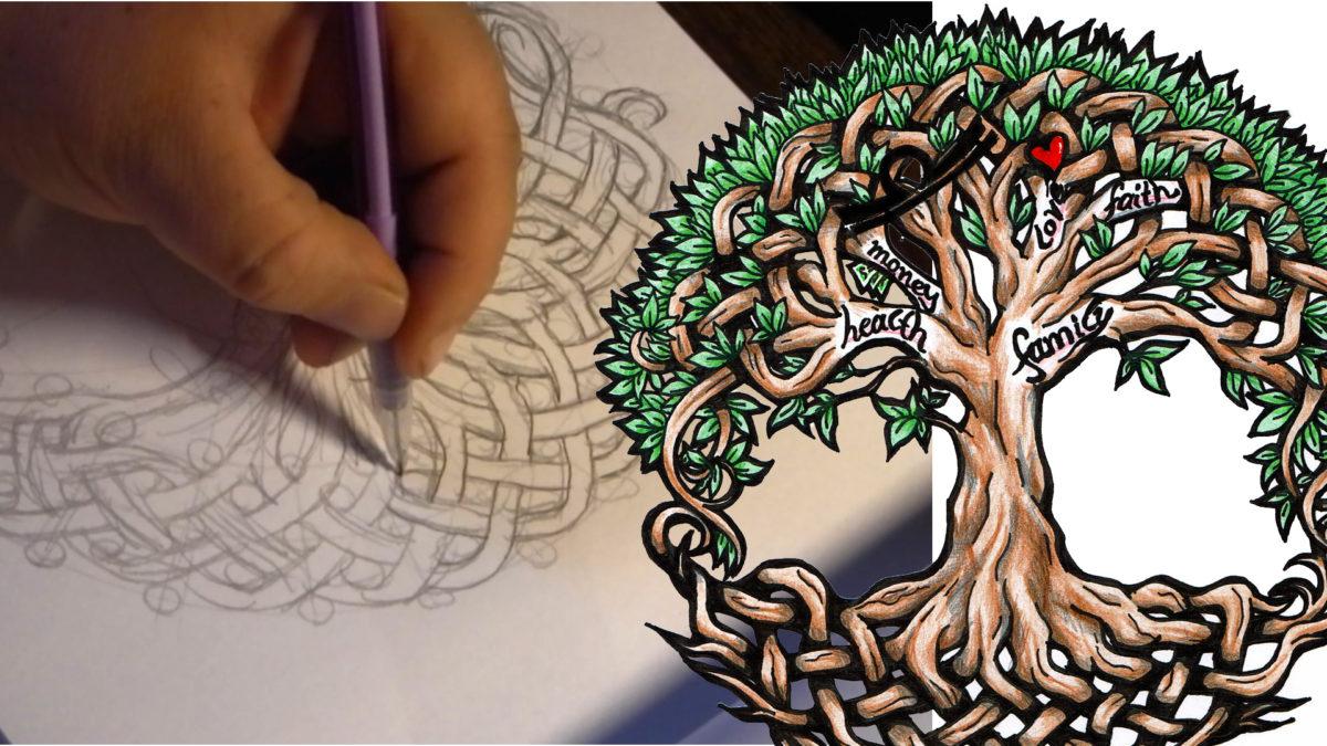 Wenn ich Zeichne … Video: Keltischer Lebensbaum