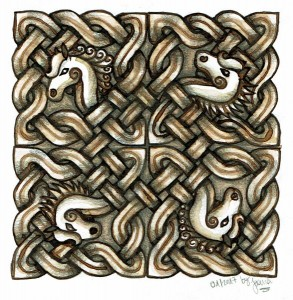 Design: Celtic Knotwork with Horses