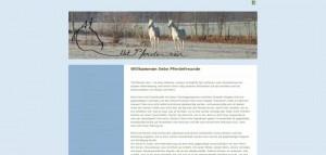 Mit Pferden sein ... Website Design