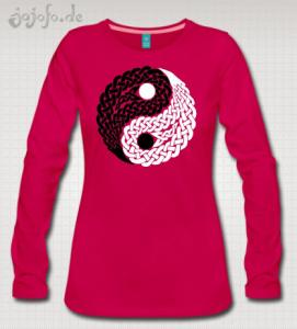 Celtic Yin Yang Design on a T-Shirt