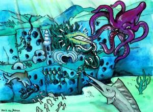 Concept Art: Underwater Battle
