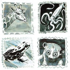 Inktober 2017: AnimalsHere: long, giant, poison, shy