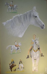 Horse Portrait Collage A3