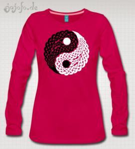 Celtic Yin Yang Design on a T-Shirt